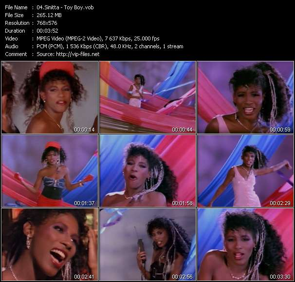 Screenshot of Music Video Sinitta - Toy Boy