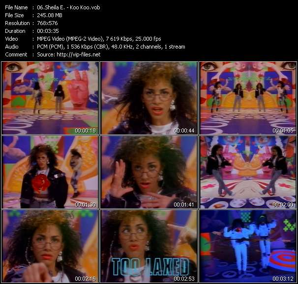 Screenshot of Music Video Sheila E. - Koo Koo