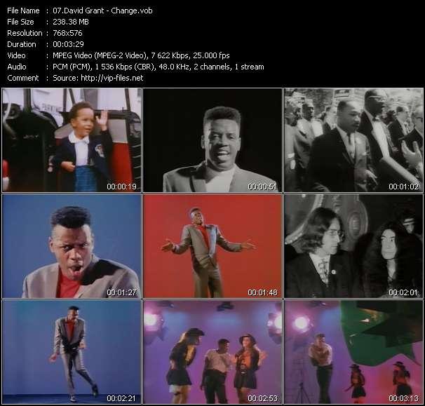 Screenshot of Music Video David Grant - Change