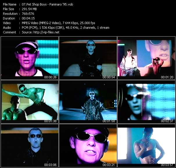Screenshot of Music Video Pet Shop Boys - Paninaro '95