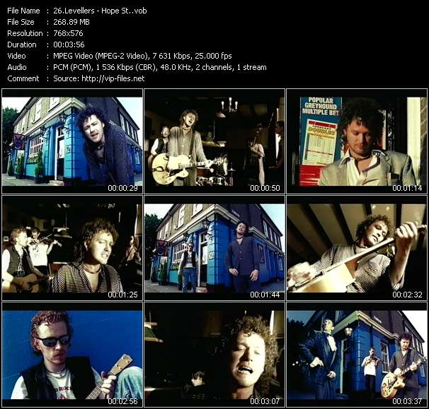 Screenshot of Music Video Levellers - Hope St.