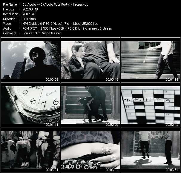 Screenshot of Music Video Apollo 440 (Apollo Four Forty) - Krupa