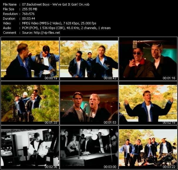 Screenshot of Music Video Backstreet Boys - We've Got It Goin' On