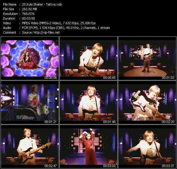 Kula Shaker video vob