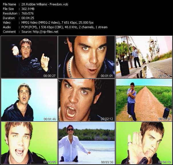 Robbie Williams video vob