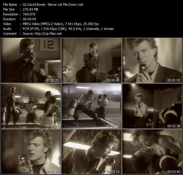 Screenshot of Music Video David Bowie - Never Let Me Down