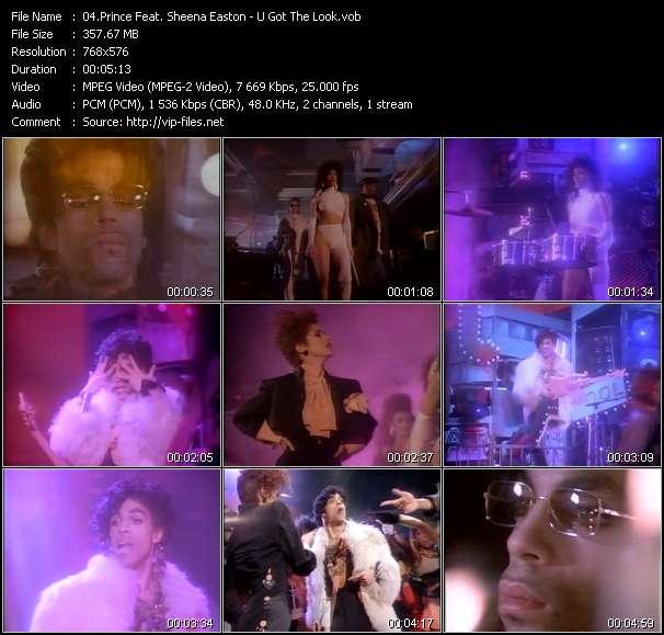 Screenshot of Music Video Prince Feat. Sheena Easton - U Got The Look