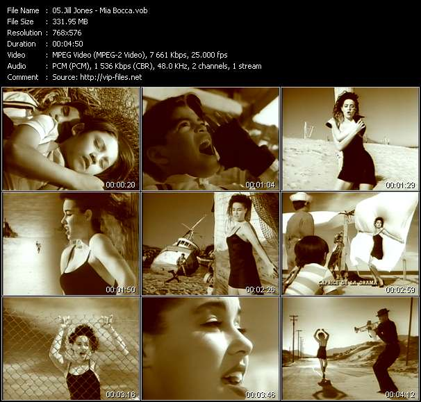 Screenshot of Music Video Jill Jones - Mia Bocca
