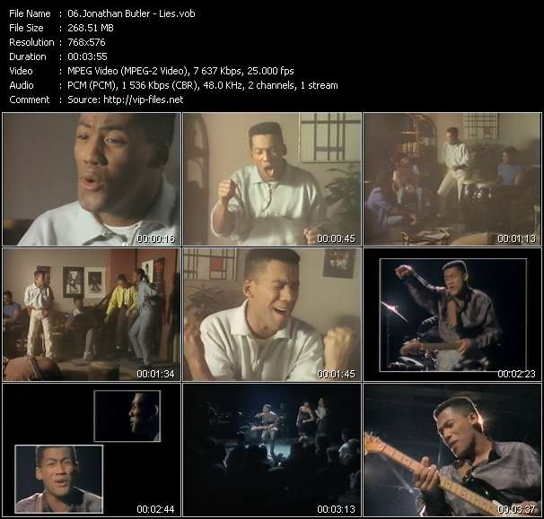 Screenshot of Music Video Jonathan Butler - Lies