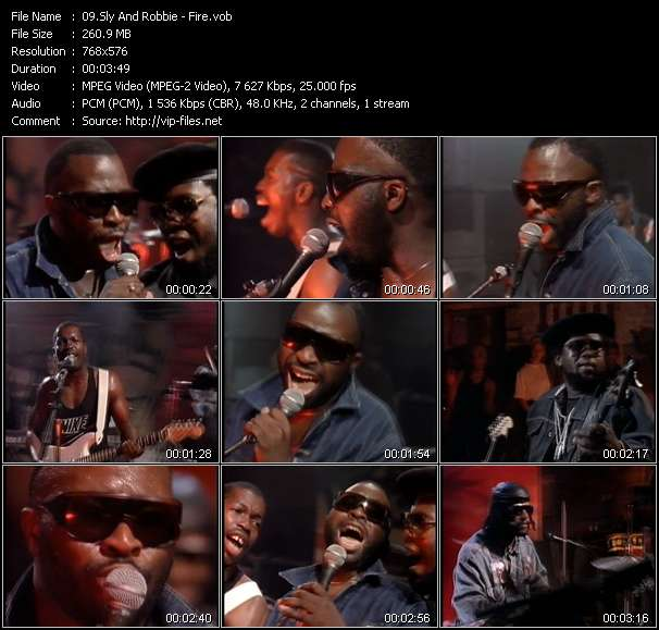 Screenshot of Music Video Sly And Robbie - Fire