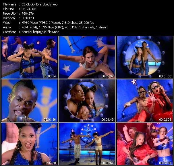 Screenshot of Music Video Clock - Everybody