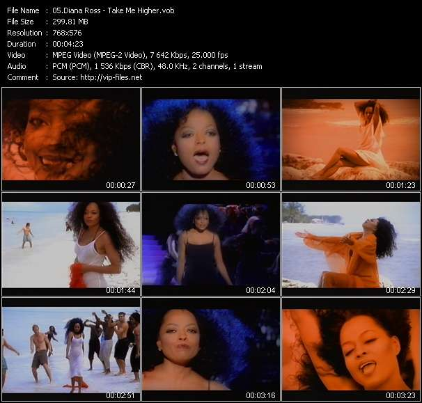 Screenshot of Music Video Diana Ross - Take Me Higher