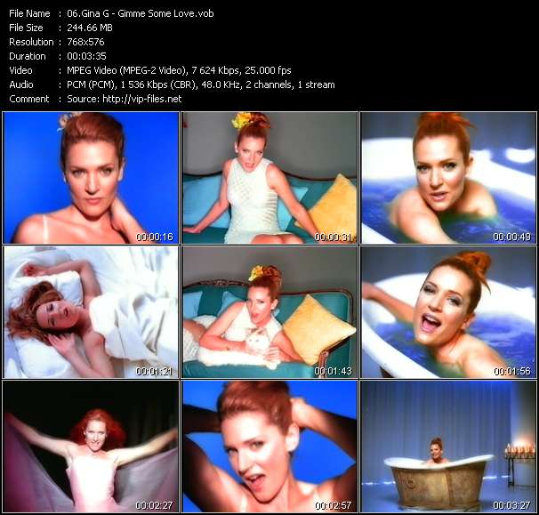 Screenshot of Music Video Gina G - Gimme Some Love