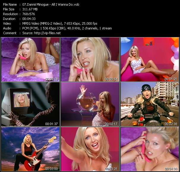 Screenshot of Music Video Dannii Minogue - All I Wanna Do