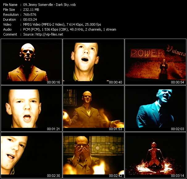 Screenshot of Music Video Jimmy Somerville - Dark Sky