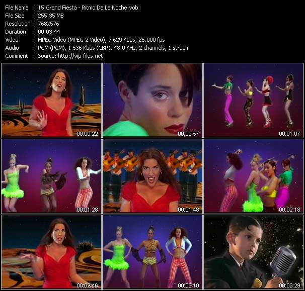 Screenshot of Music Video Grand Fiesta - Ritmo De La Noche