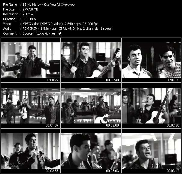 Screenshot of Music Video No Mercy - Kiss You All Over