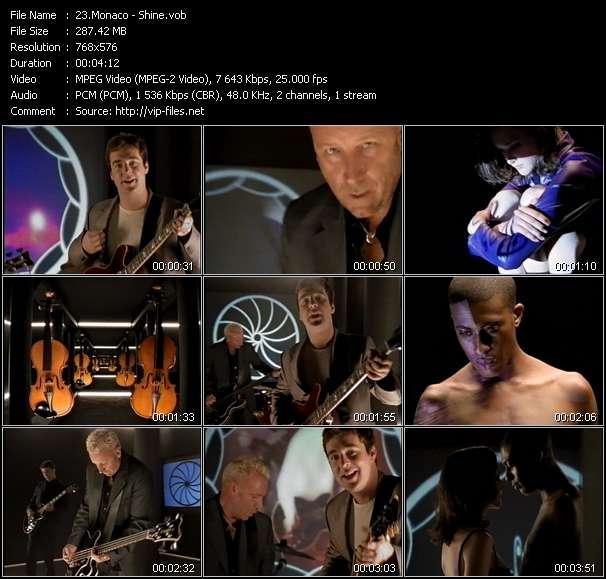 Screenshot of Music Video Monaco - Shine