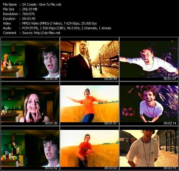 Screenshot of Music Video Coade - Give To Me