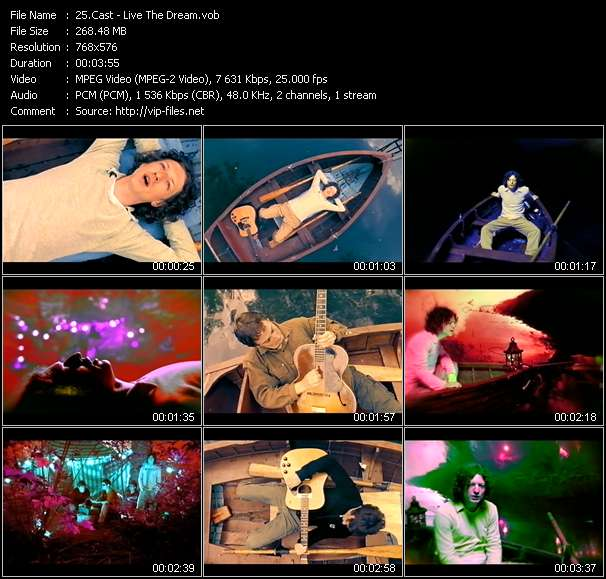 Screenshot of Music Video Cast - Live The Dream