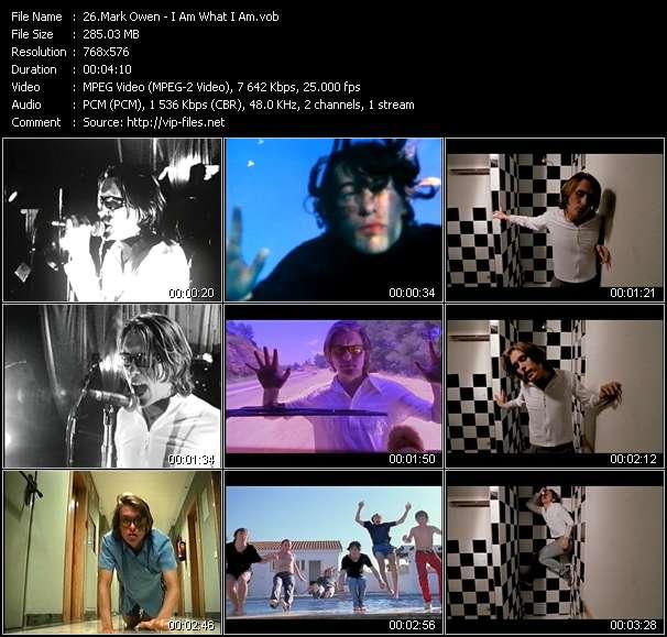 Screenshot of Music Video Mark Owen - I Am What I Am