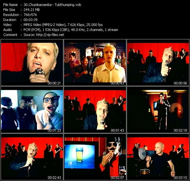 Screenshot of Music Video Chumbawamba - Tubthumping