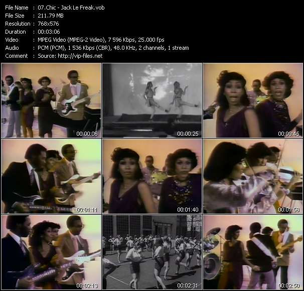 Screenshot of Music Video Chic - Jack Le Freak