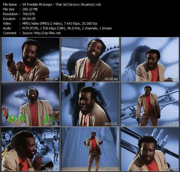Screenshot of Music Video Freddie McGregor - That Girl (Groovy Situation)