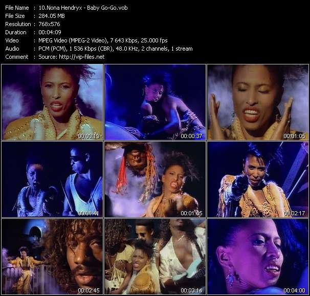 Screenshot of Music Video Nona Hendryx - Baby Go-Go