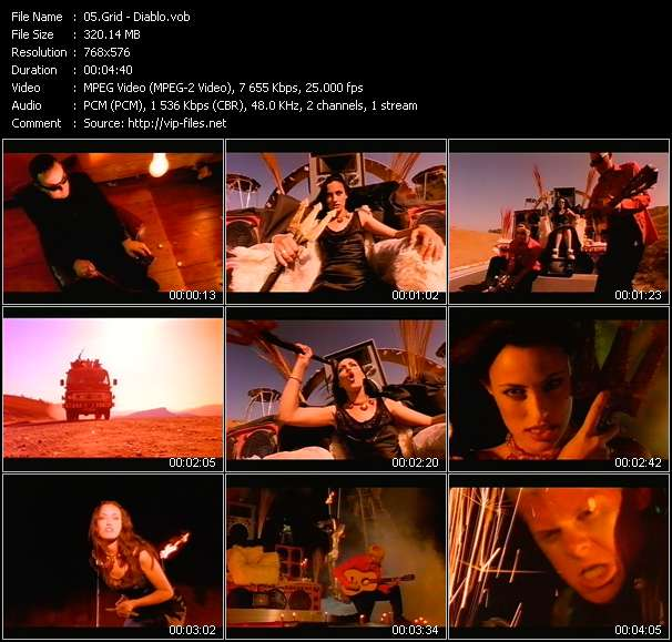 Screenshot of Music Video Grid - Diablo