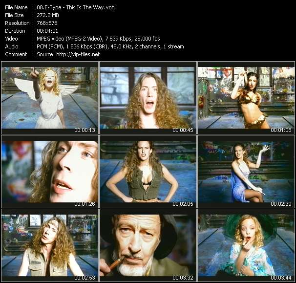 Screenshot of Music Video E-Type - This Is The Way