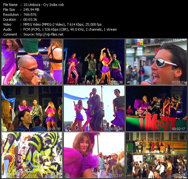 Screenshot of Music Video Umboza - Cry India
