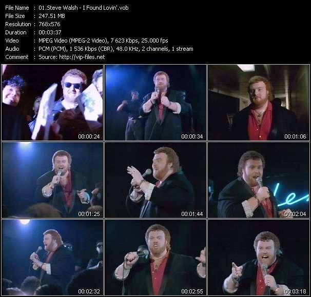 Screenshot of Music Video Steve Walsh - I Found Lovin'