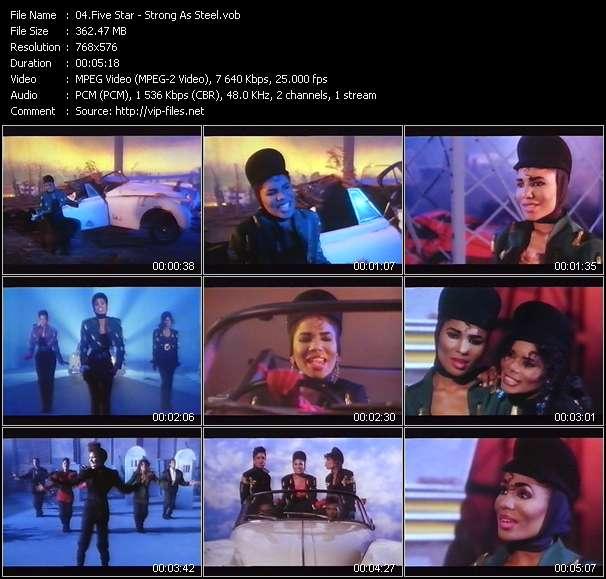 Screenshot of Music Video Five Star - Strong As Steel