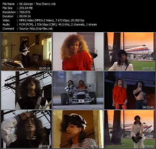 Screenshot of Music Video Georgio - Tina Cherry