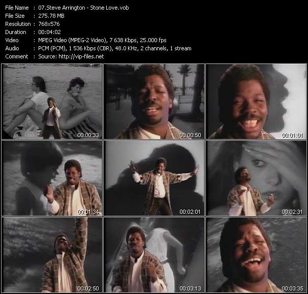 Screenshot of Music Video Steve Arrington - Stone Love