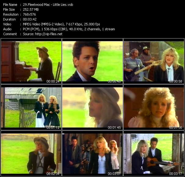 Screenshot of Music Video Fleetwood Mac - Little Lies
