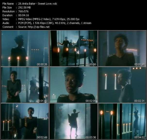 Screenshot of Music Video Anita Baker - Sweet Love