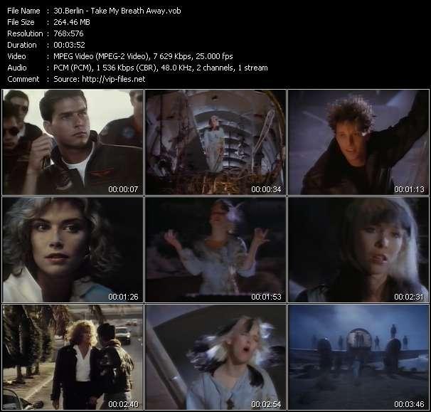 Screenshot of Music Video Berlin - Take My Breath Away