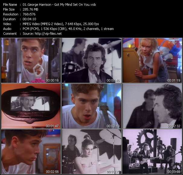 Screenshot of Music Video George Harrison - Got My Mind Set On You