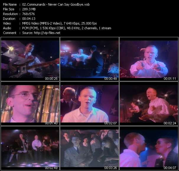 Screenshot of Music Video Communards - Never Can Say Goodbye
