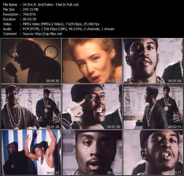 Screenshot of Music Video Eric B. And Rakim - Paid In Full