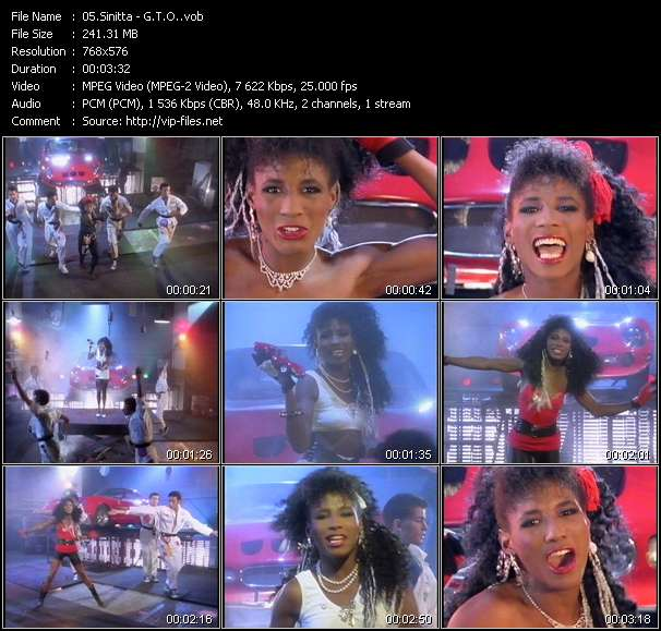 Screenshot of Music Video Sinitta - G.T.O.