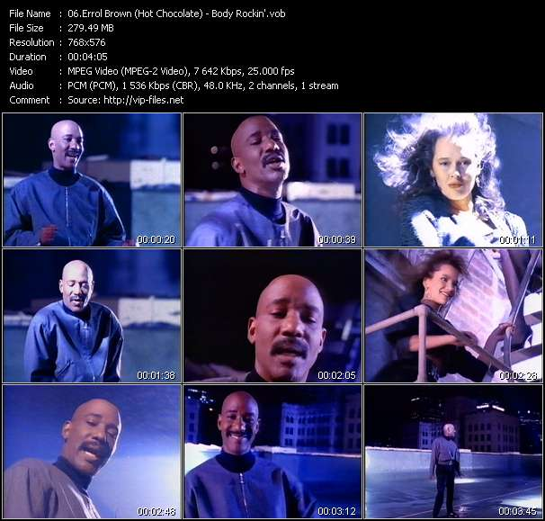 Screenshot of Music Video Errol Brown (Hot Chocolate) - Body Rockin'