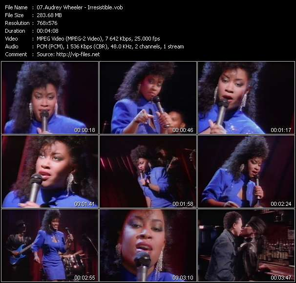 Screenshot of Music Video Audrey Wheeler - Irresistible