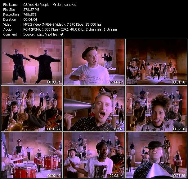 Screenshot of Music Video Yes No People - Mr Johnson