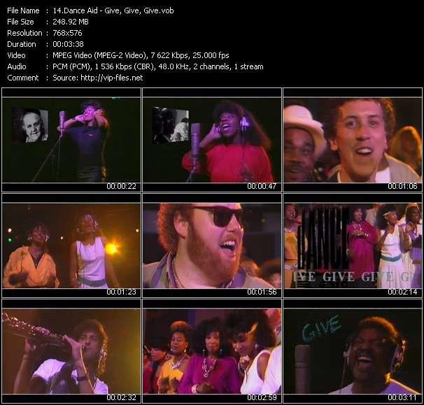 Dance Aid clips musicaux vob