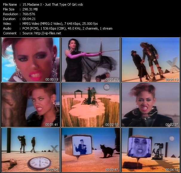 Madame X clips musicaux vob