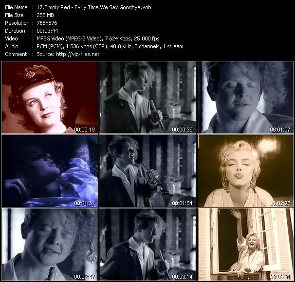 Simply Red clips musicaux vob
