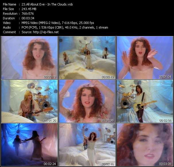 Screenshot of Music Video All About Eve - In The Clouds